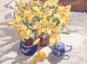 Lilies Lemons and Ming Teapot