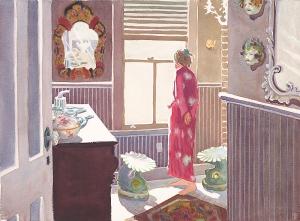 Red Kimono Bright Sun