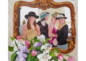 Saratoga Women in Mirror