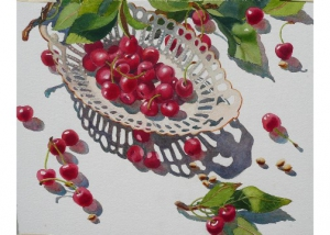 Scattered Bing Cherries