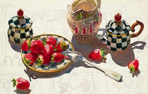 Strawberries & Buffalo Jug