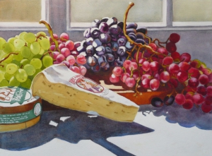 Table Grapes and Brie