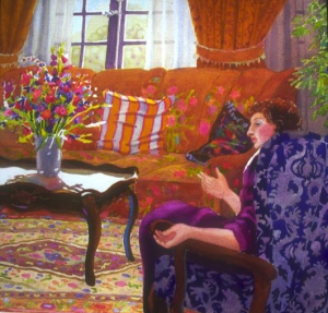 Woman Seated in Room